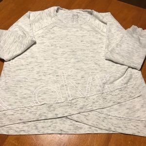 Calvin Klein | Criss-Cross Cut Off Sweatshirt
